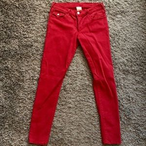 True Religion Red Denim Jeans